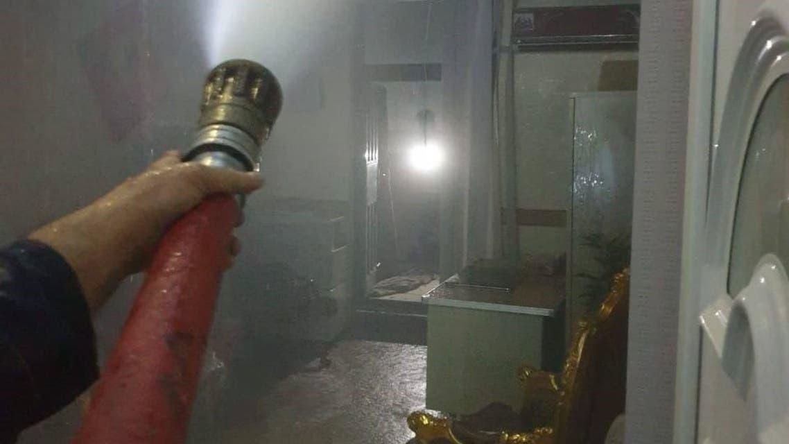 حريق مستسفى ابن الخطيب العراق 1