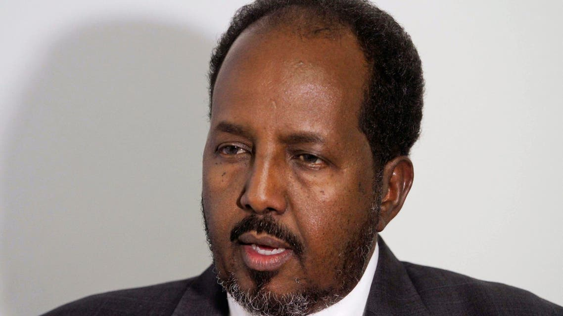 Somalia's former President Hassan Sheikh Mohamud speaks during an interview with Reuters in Mogadishu, May 9, 2014. (Reuters)