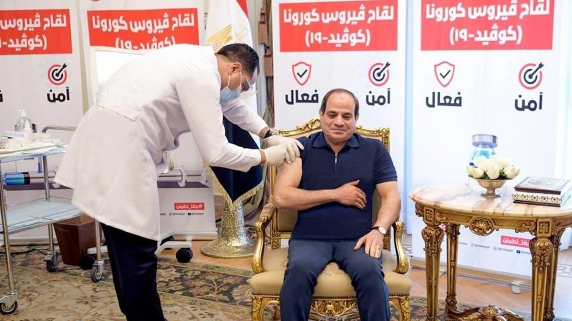 السيسي يتلقى اللقاح