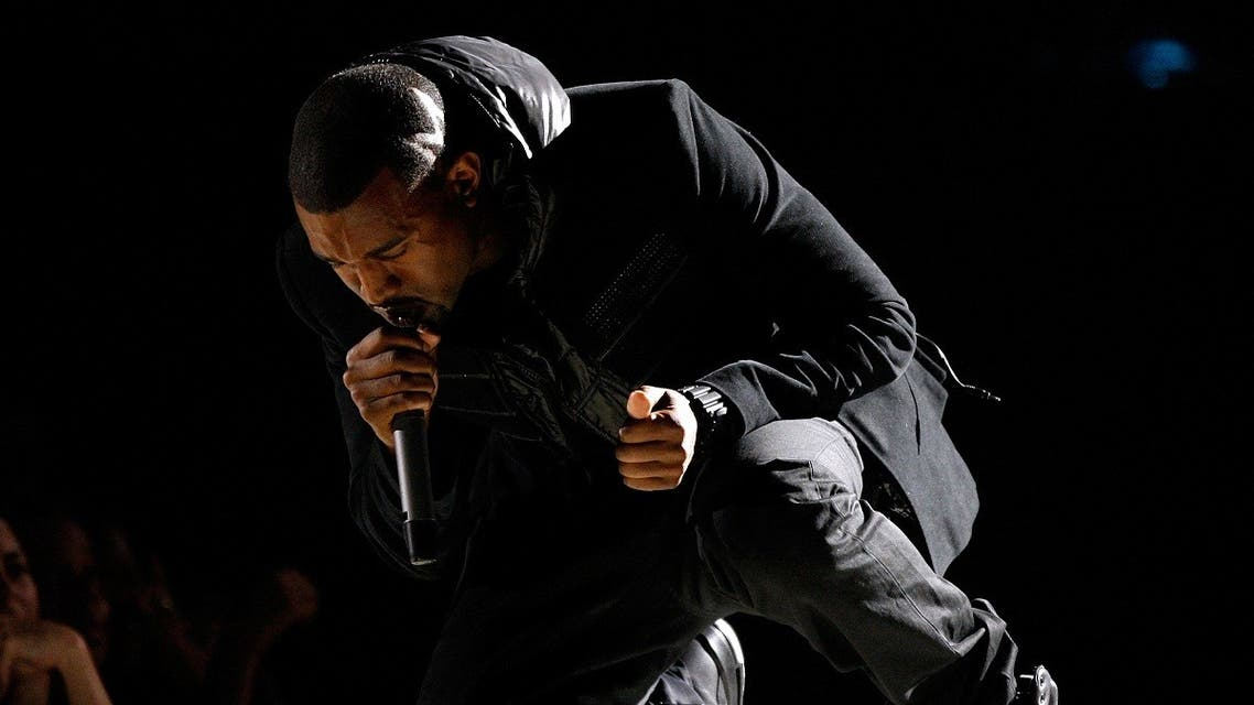 In this file photo musician Kanye West performs onstage during the 50th annual Grammy awards held at the Staples Center on February 10, 2008 in Los Angeles, California. (AFP)
