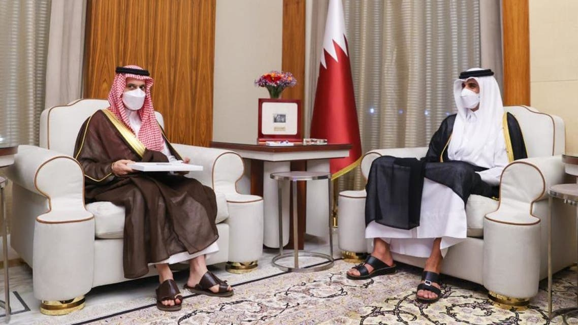 أميرقطر ووزير الخارجية السعودي - واس