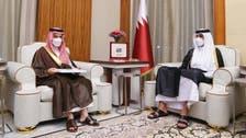سعودی وزیر خارجہ کی امیر قطر سے ملاقات