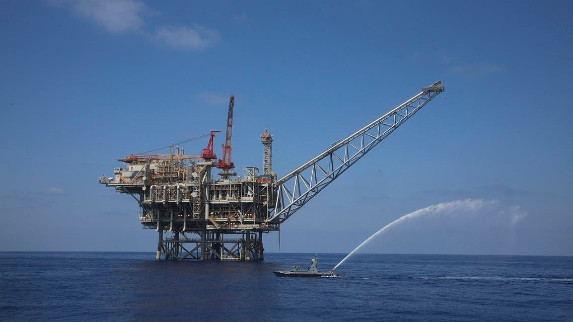 a rig is seen in the Tamar natural gas field in the Mediterranean Sea, off the coast of Israel. (File photo: AP)