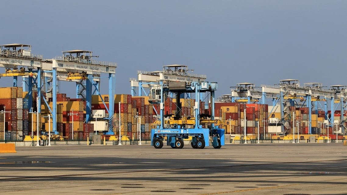 Containers are seen at Abu Dhabi's Khalifa Port after it was expanded in Abu Dhabi, UAE. (Reuters)