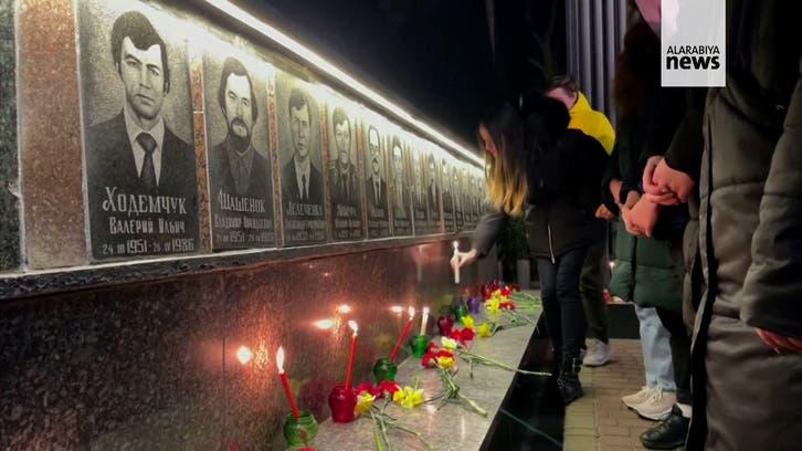 Ukraine's Slavutych town marks 35 years since Chernobyl disaster
