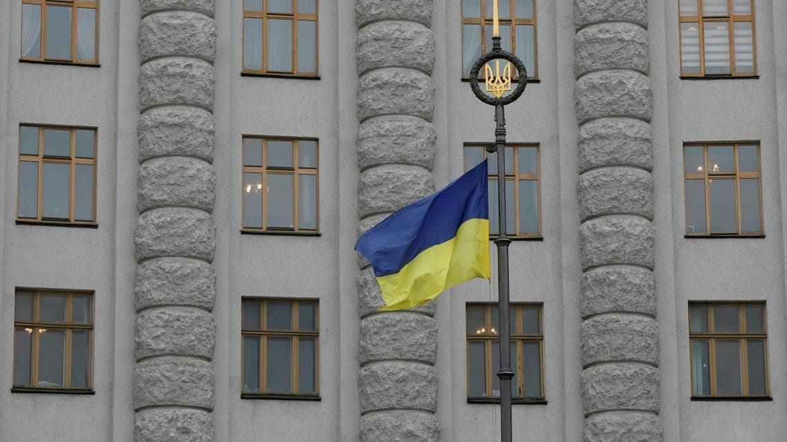 A Ukrainian national flag flies in front of the government building in central Kiev, Ukraine. (File photo: Reuters)