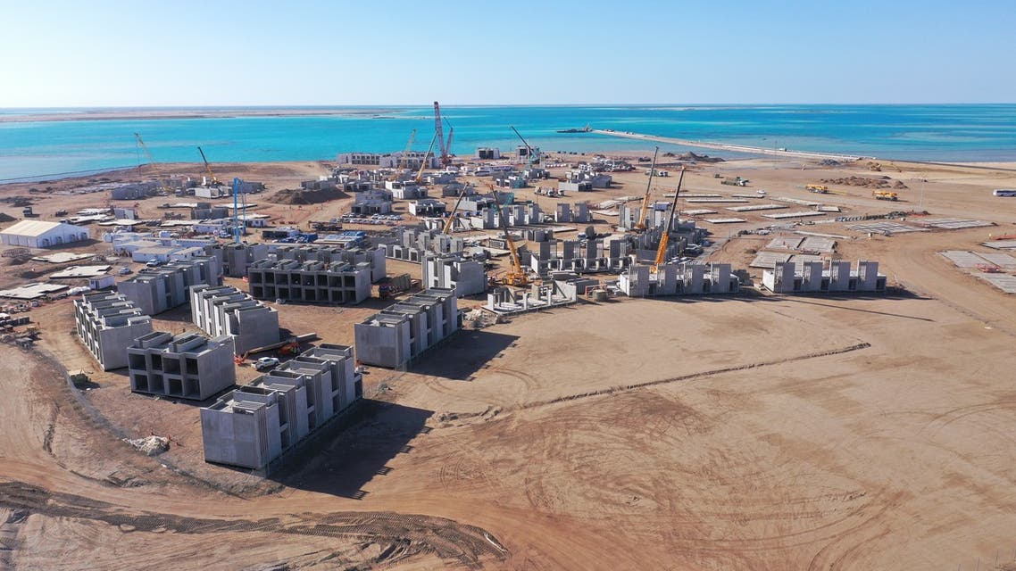 Saudi Arabia's Red Sea Development Company works on designing the island and building the necessary infrastructure to begin their project to build a unique tourist destination which will include 16 new hotels. (TRSDC)