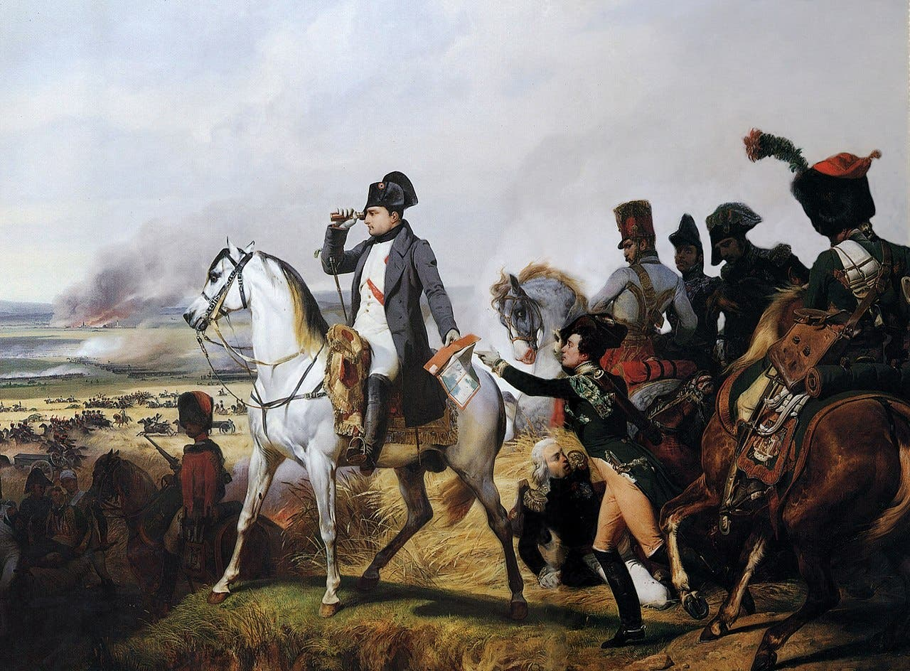 نابليون بونابرت خلال معركة فاغرام