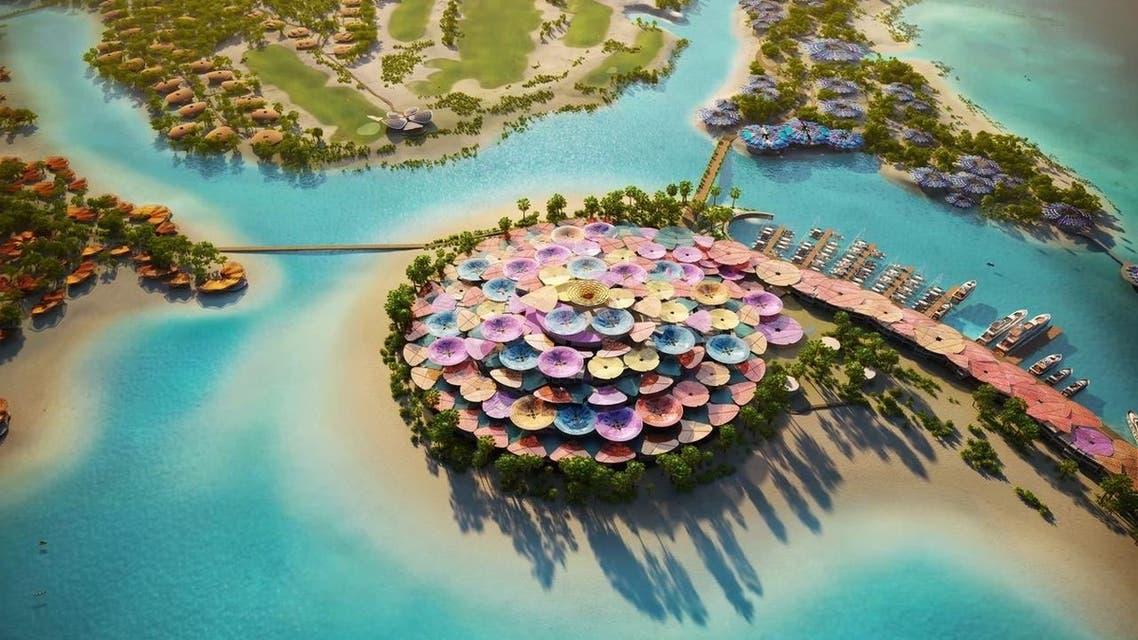 إحدى الجزر ضمن مشروع البحر الأحمر