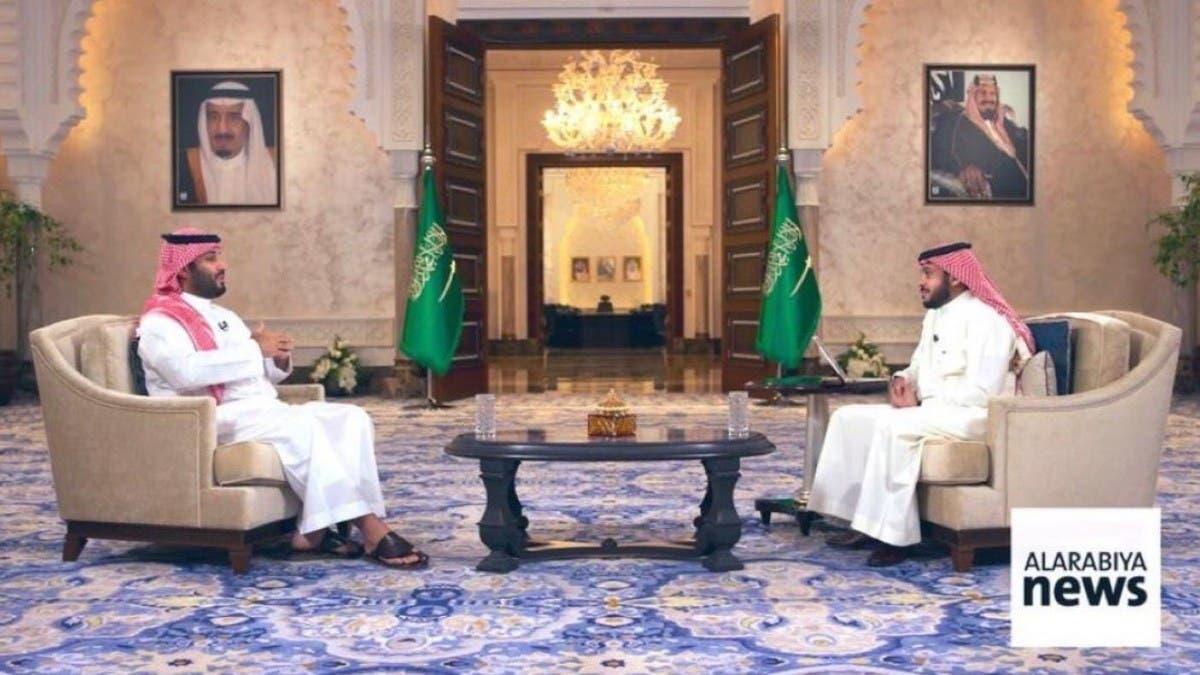 """""""العربية"""" تبث مقابلة الأمير محمد بن سلمان حول منجزات رؤية 2030"""