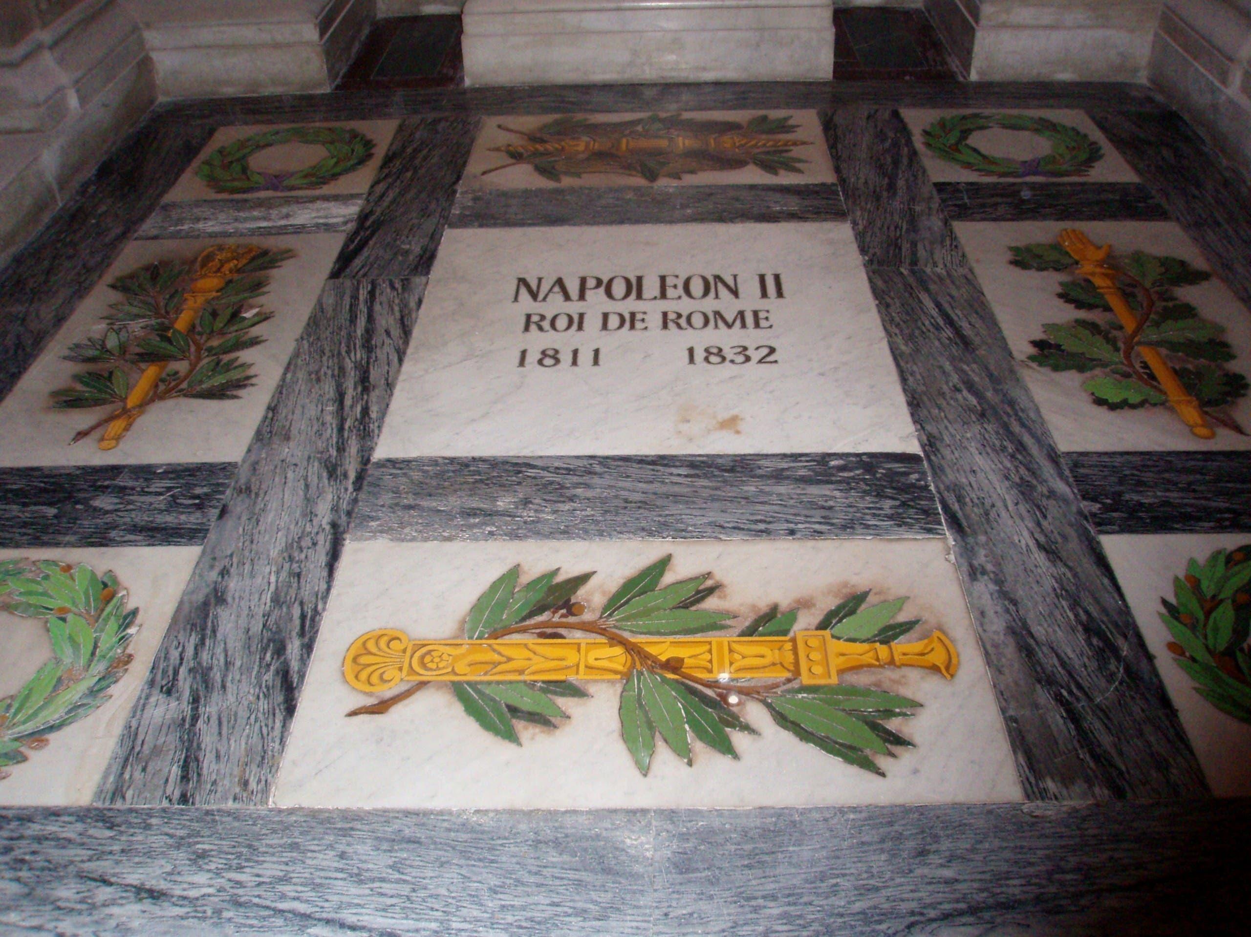 صورة لقبر نابليون الثاني