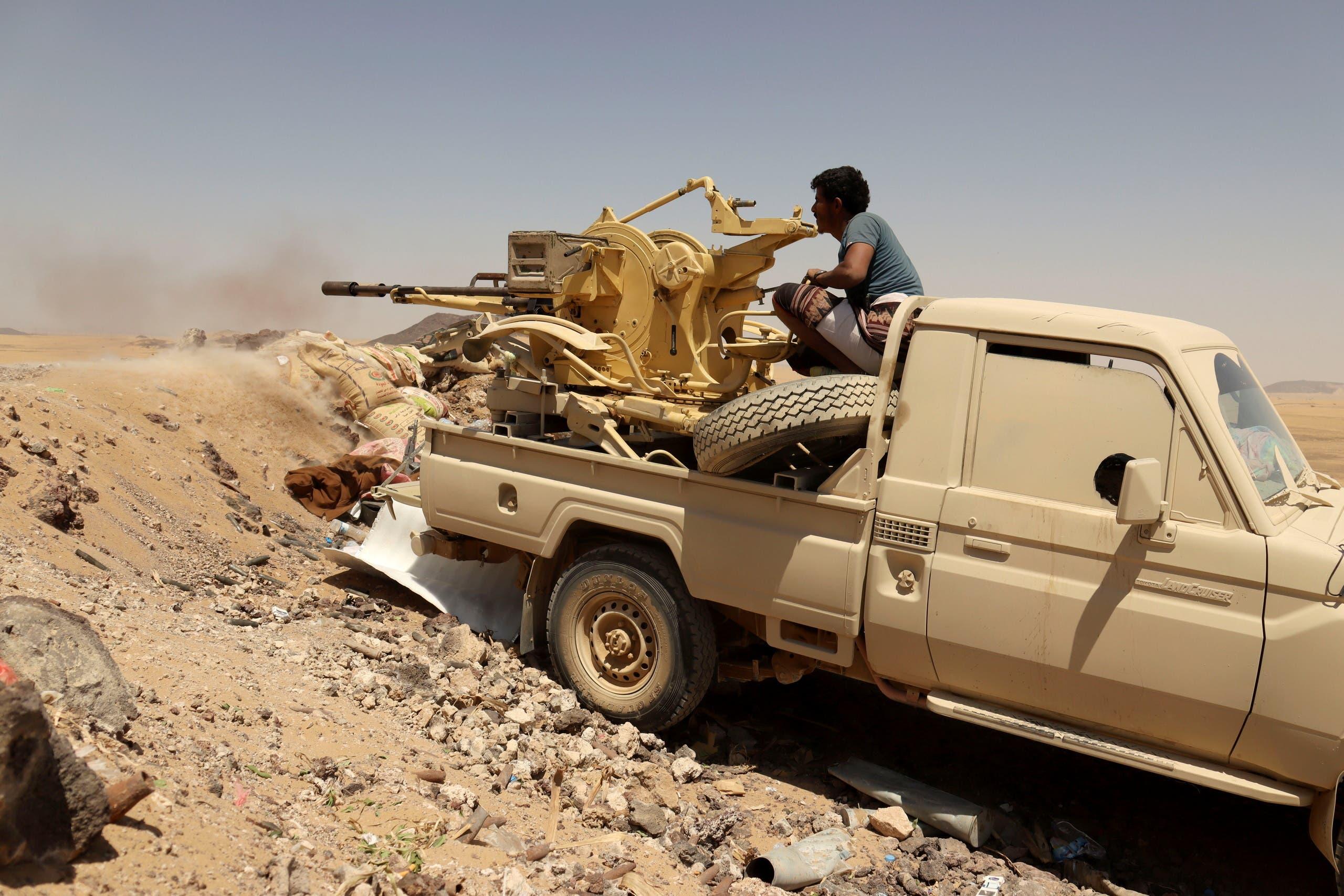 الجيش اليمني يتصدى للهجوم الحوثي في مأرب