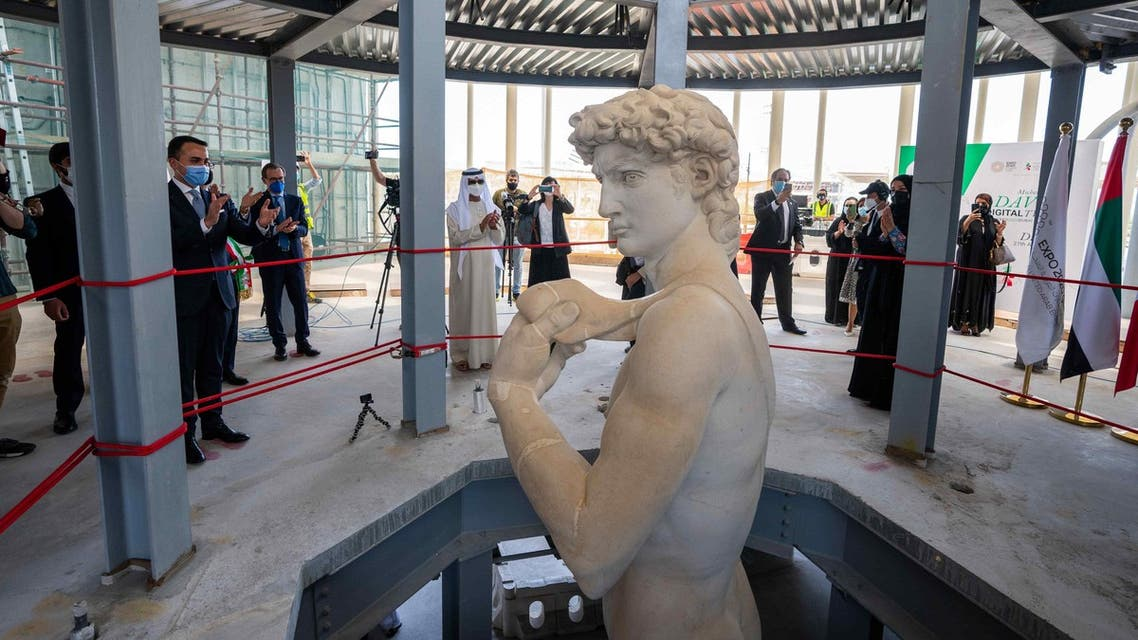 The 3D-printed replica of the Michelangelo's David at Dubai Expo 2020. (Supplied)