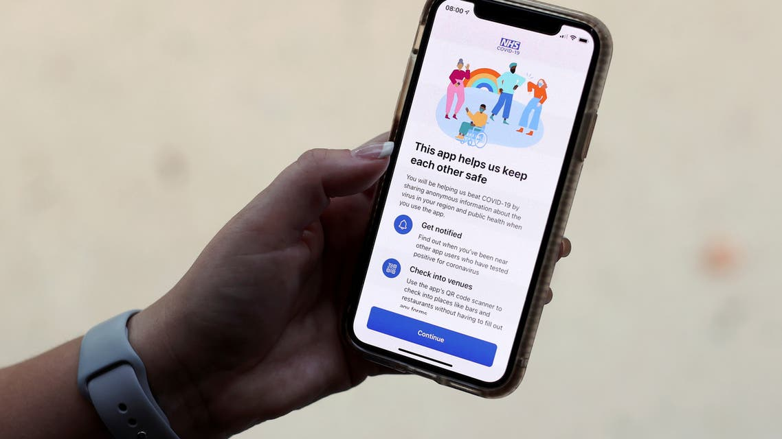 The coronavirus disease (COVID-19) contact tracing smartphone app of Britain's National Health Service (NHS) is displayed on an iPhone in this illustration photograph taken in Keele, Britain, September 24, 2020. (File photo: Reuters)