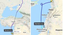 Flight tracking services record first flight between Israel and Syria