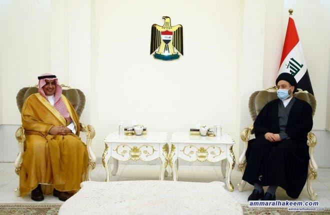 السيد عمار الحكيم والسفير السعودي في العراق عبد العزيز الشمري