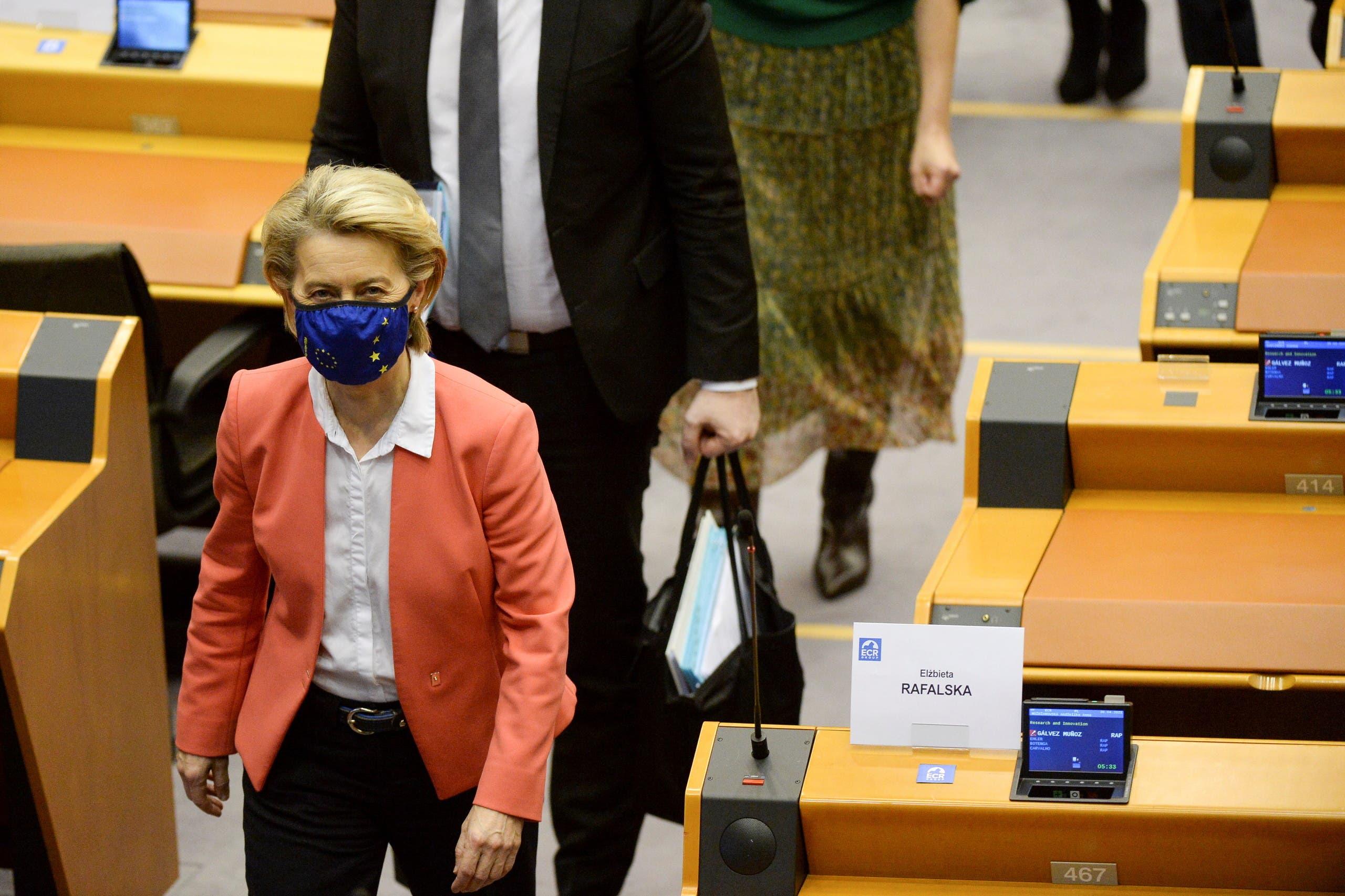 فون دير ليين في البرلمان الأوروبي