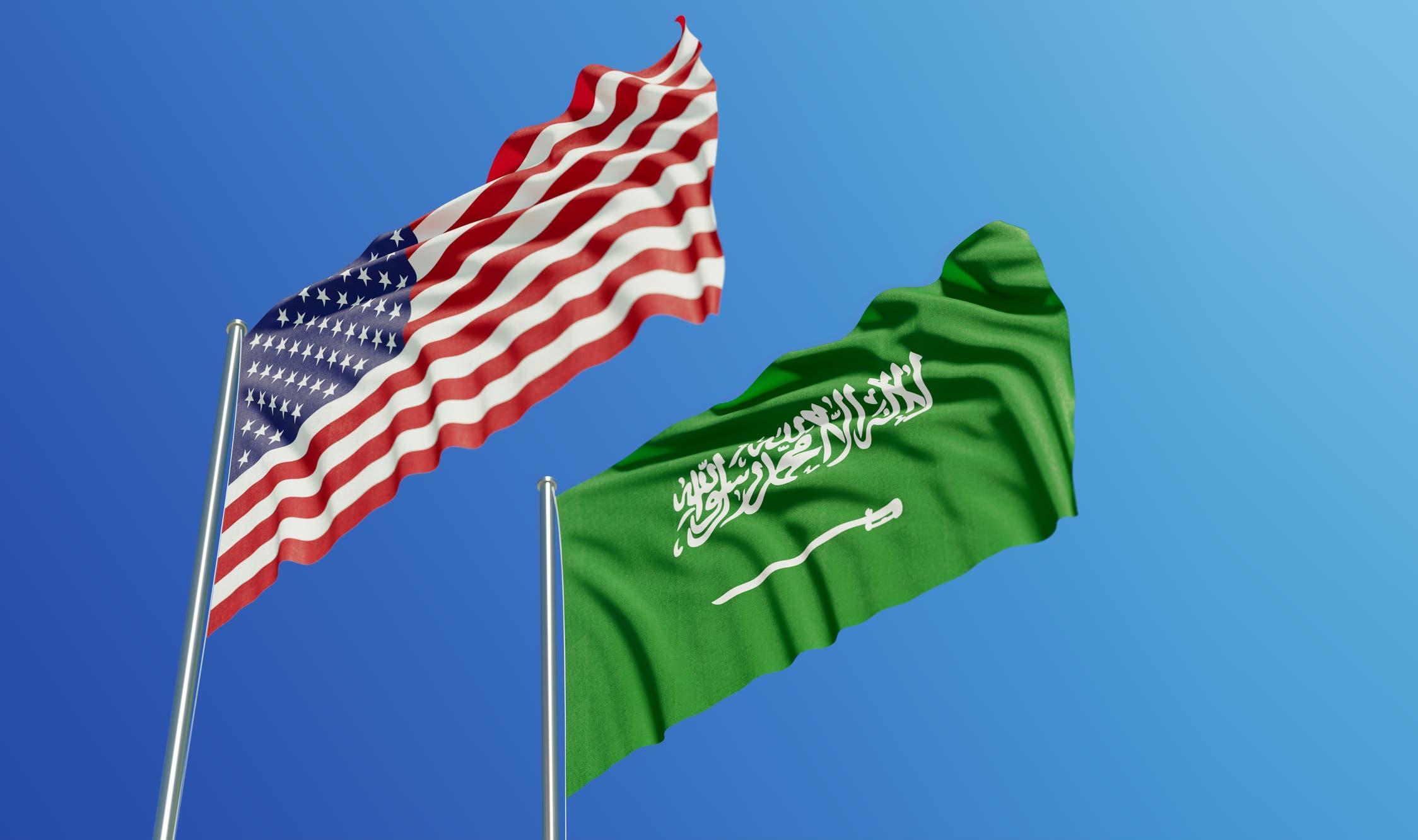 Flags of the USA and Saudi Arabia. (File photo)