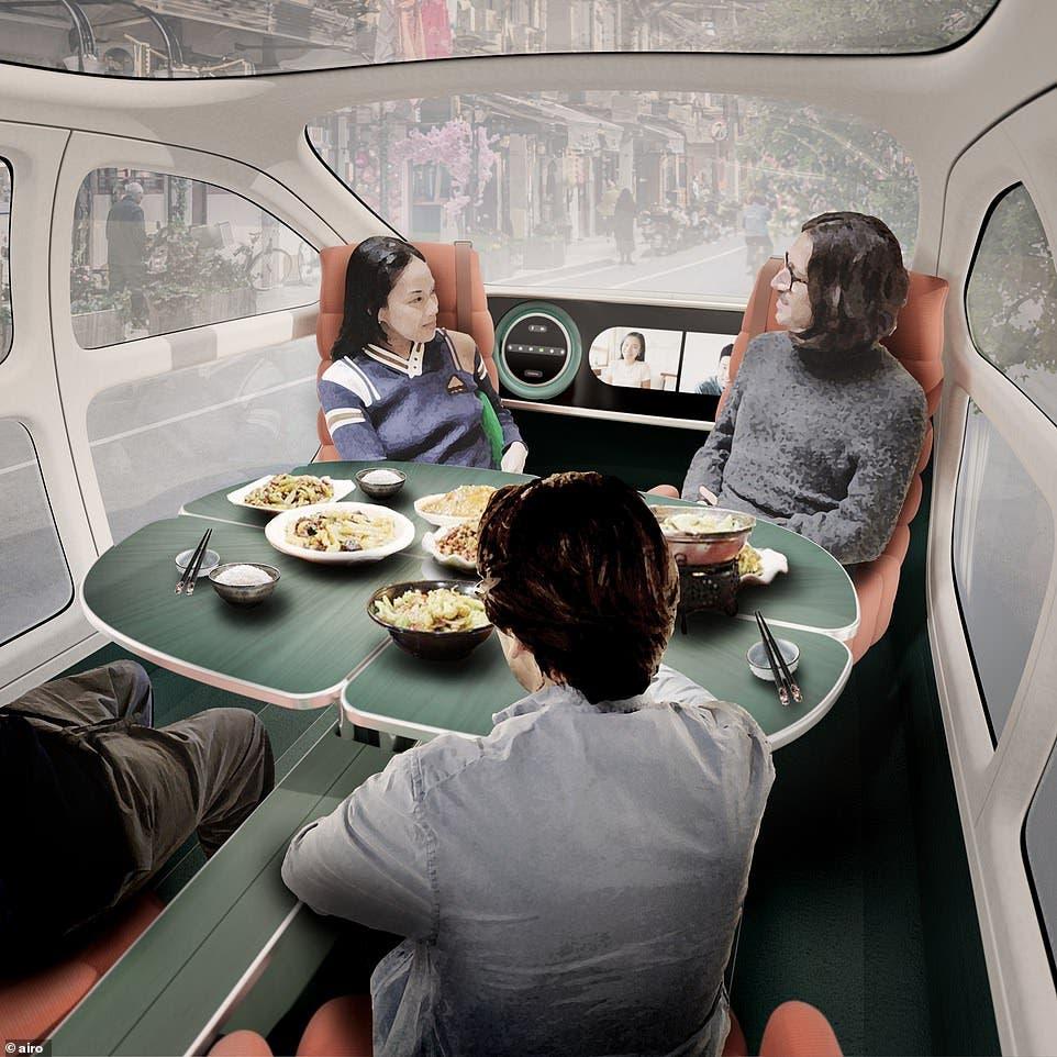 سيارة الأكل والنوم