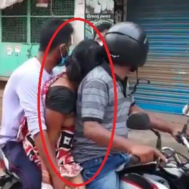 فيديو مأساوي من الهند.. نقل جثة أمه جالسة على دراجة