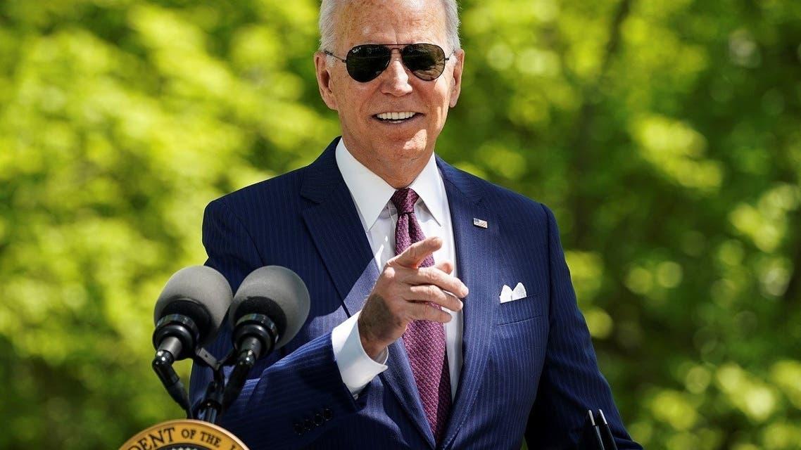 President Joe Biden delivers remarks on the administration's coronavirus response outside the White House, April 27, 2021. (Reuters)