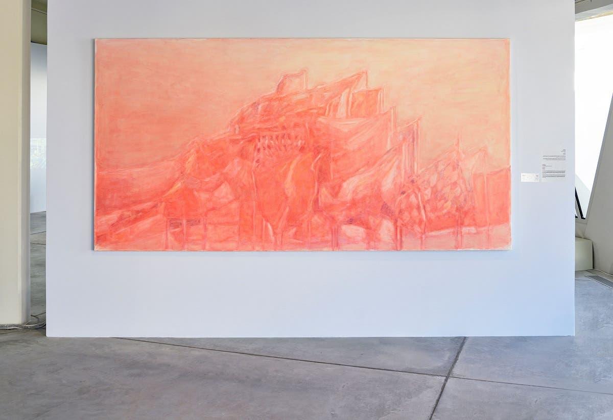 Bruno Pacheco, Mountain Flag, 2014-2015. Oil on canvas; 170 x 340 cm. (Photo: Sharjah Art Foundation)