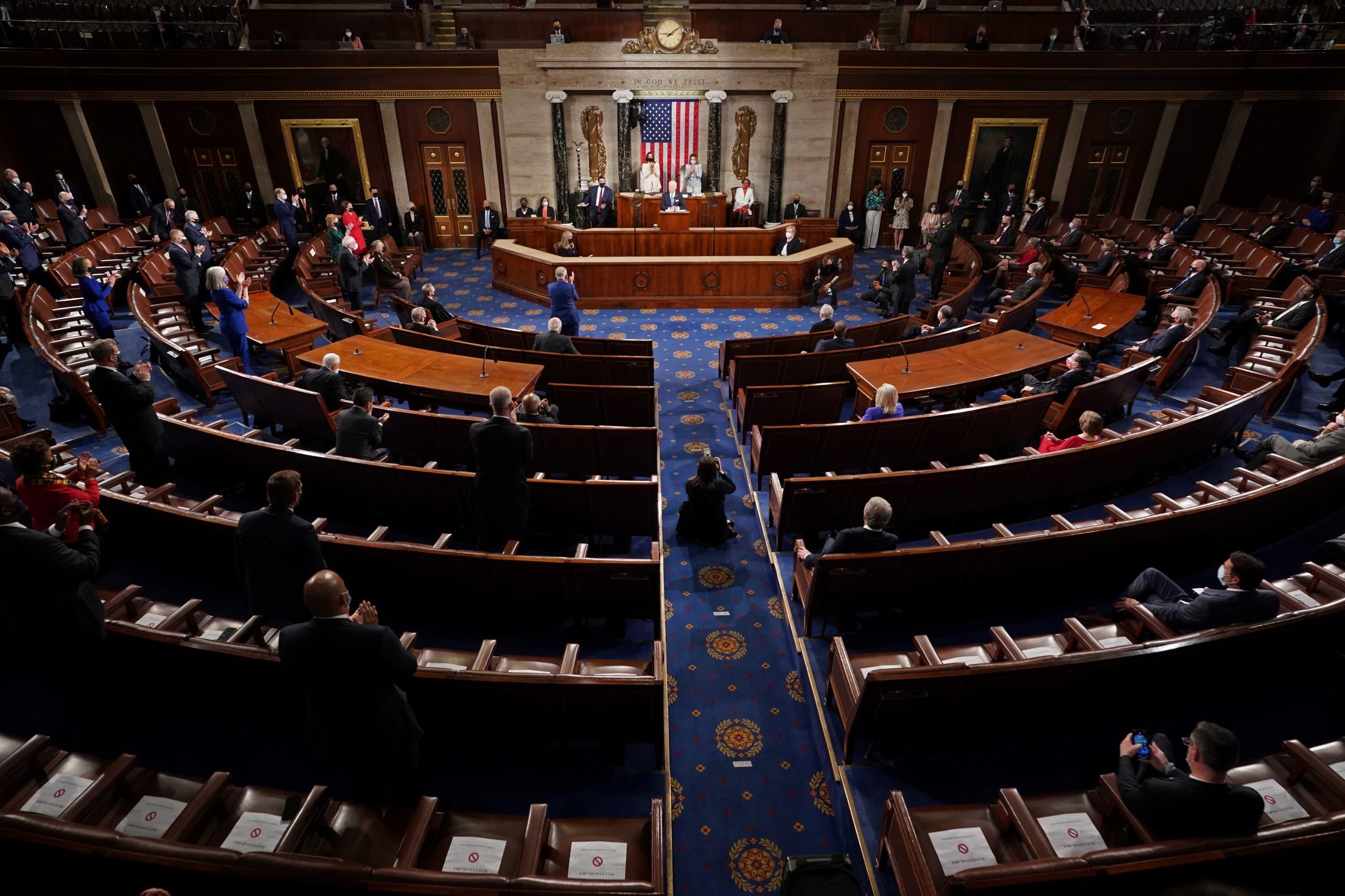 بايدن في الكونغرس (أرشيفية)