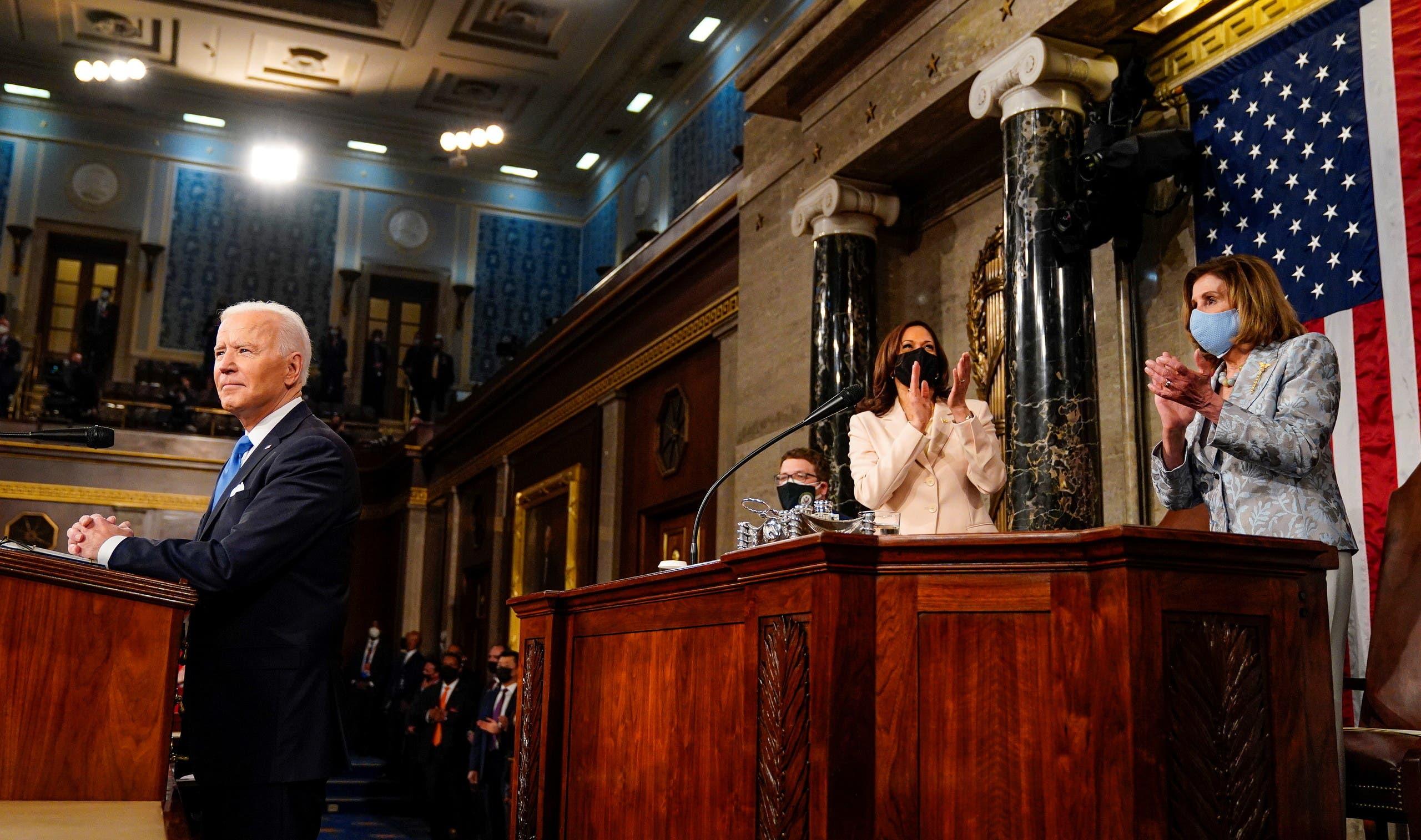 الرئيس الأميركي جو بايدن في الكونغرس