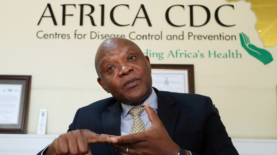 John Nkengasong, Africa's Director of the Centers for Disease Control (CDC), speaks during an interview with Reuters at the African Union (AU) Headquarters in Addis Ababa, Ethiopia, on March 11, 2020. (Reuters)