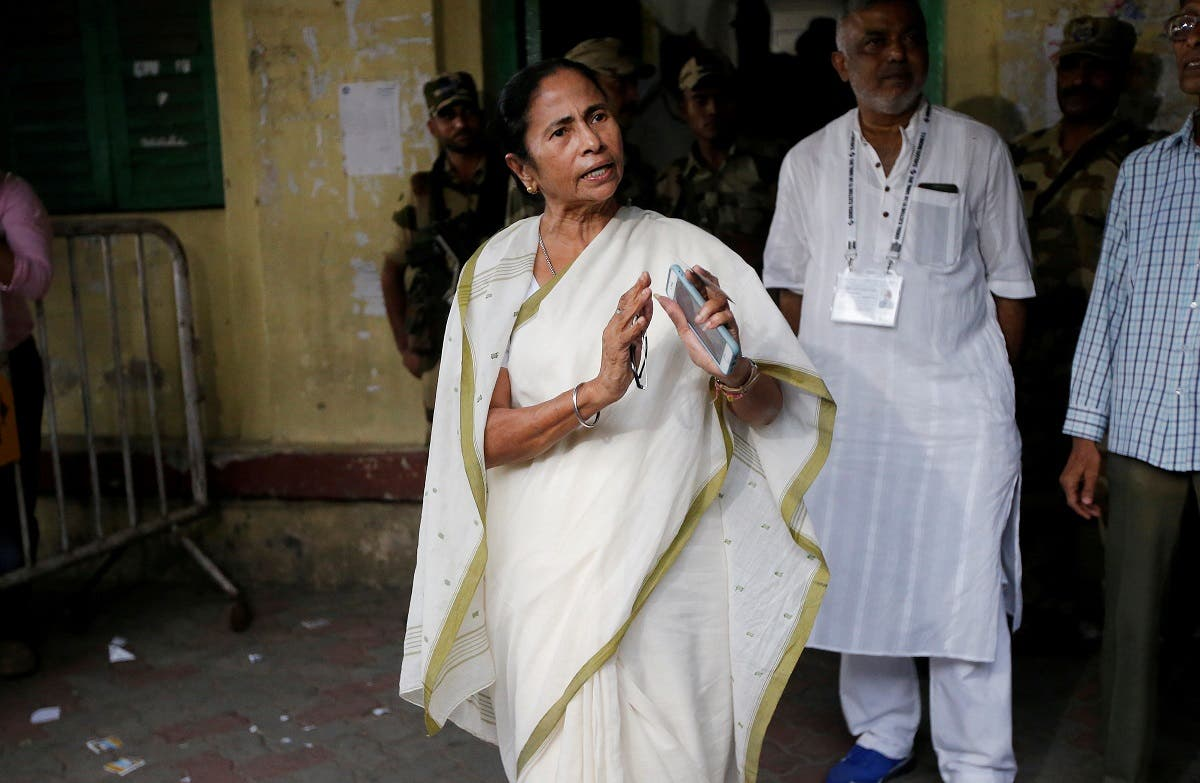Mamata Banerjee, the Chief Minister of West Bengal and chief of Trinamool Congress (TMC), gestures as she talks to media after casting her vote at a polling station during the final phase of general election in Kolkata, India, on May 19, 2019. (Reuters)