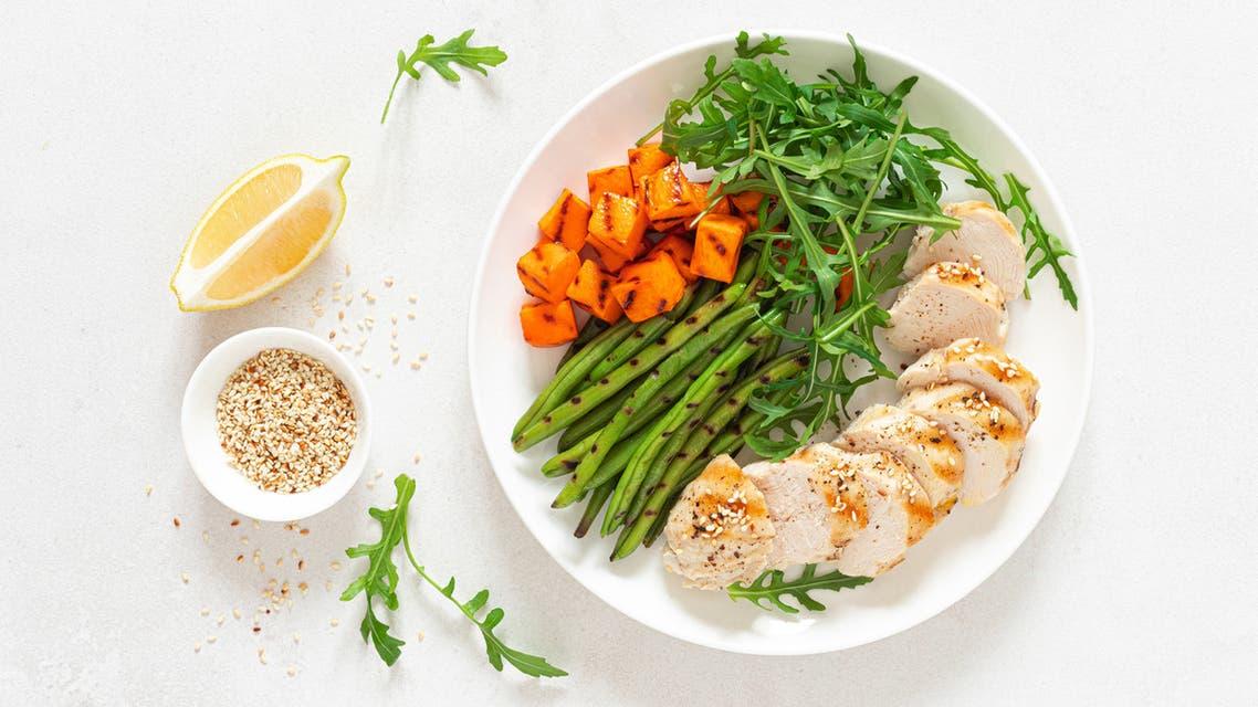 دجاج مشوي - أكل صحي