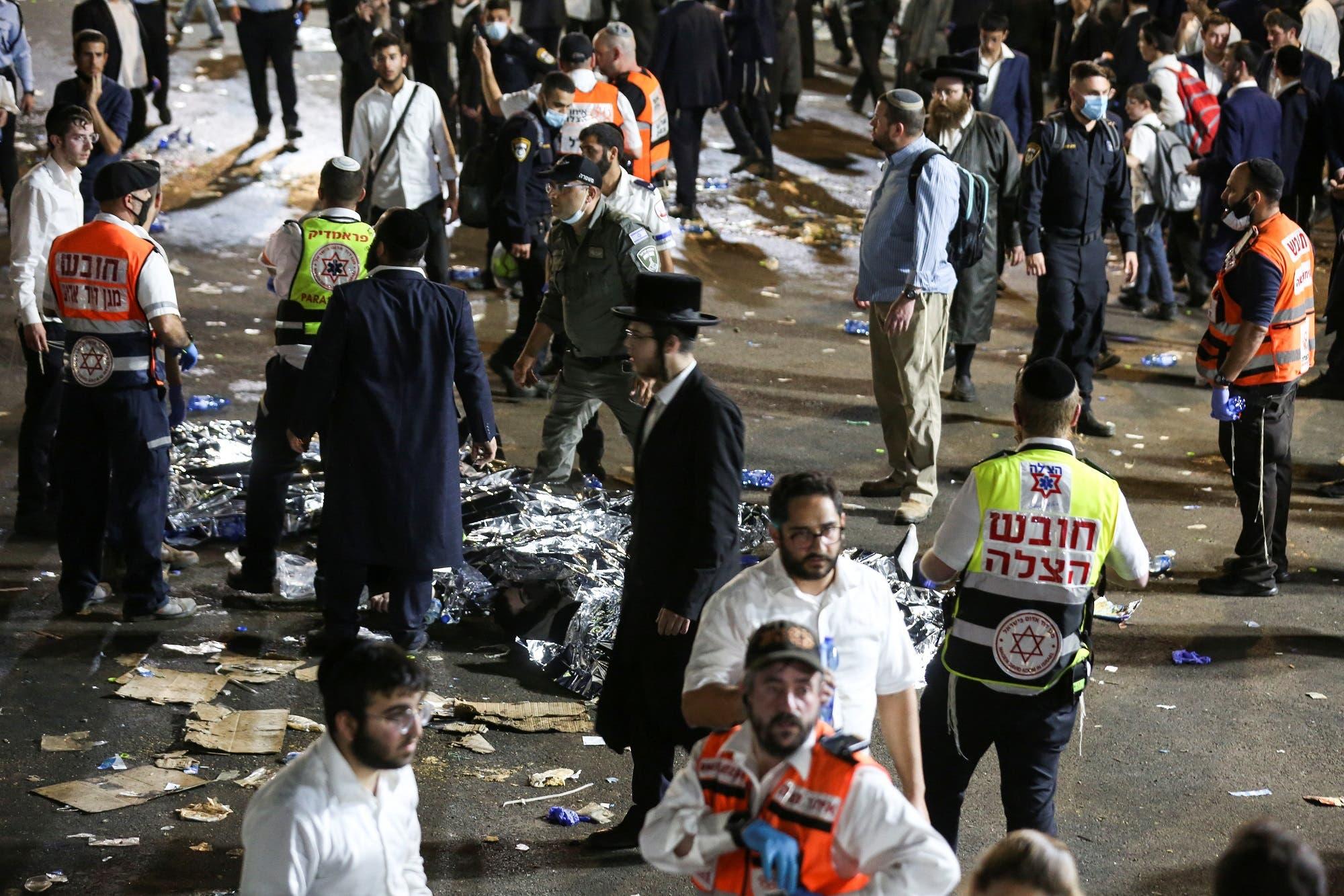 من موقح حادث التدافع في إسرائيل