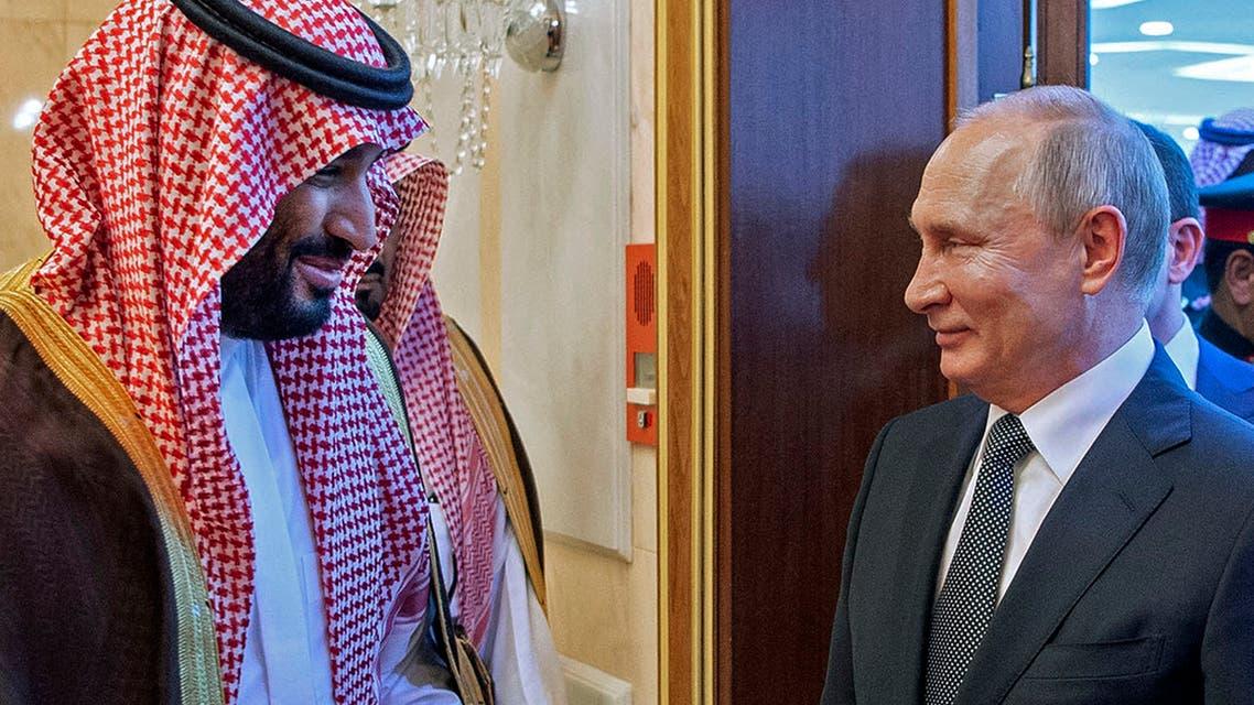 ولي العهد السعودي الأمير محمد بن سلمان والرئيس الروسي فلاديمير بوتين (أرشيفية- فرانس برس)