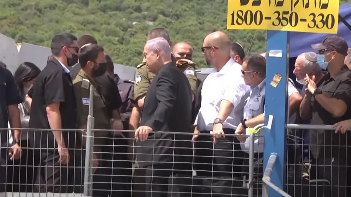 نتنياهو في موقع الحادث