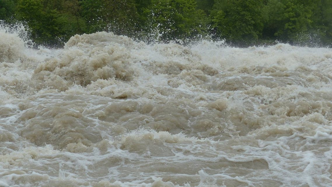 A stock image representing a torrent of floodwater. (Pixabay)