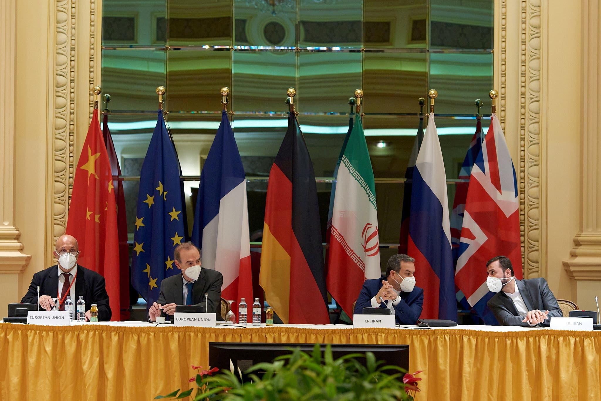 اجتماع اللجنة المشتركة لخطة العمل المشتركة الشاملة في فيينا يوم 1 مايو (رويترز)
