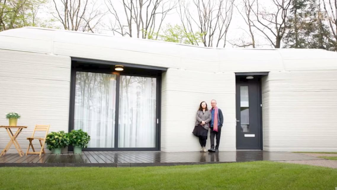 اولين خانه با فناوری چاپ سه بعدی