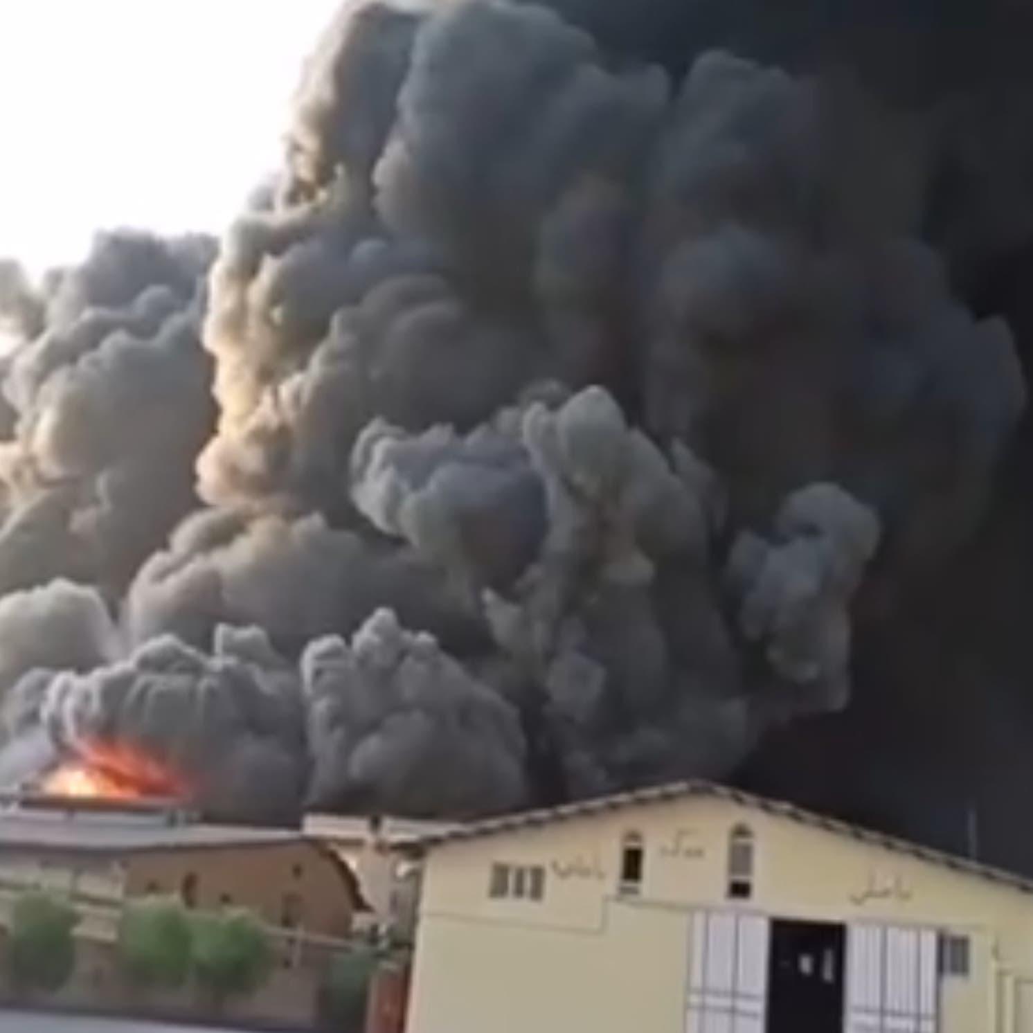 اندلاع حريق ضخم بمصنع للكيماويات في إيران بالقرب من قم