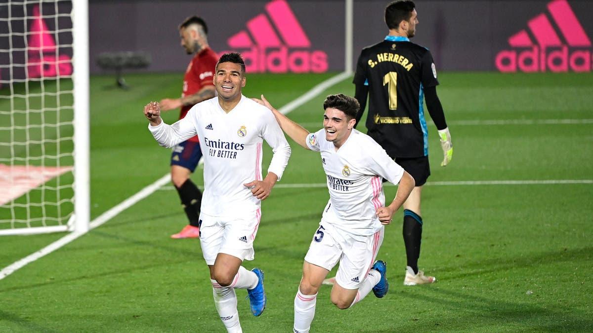 ريال مدريد يتجاوز أوساسونا ويقترب من أتلتيكو