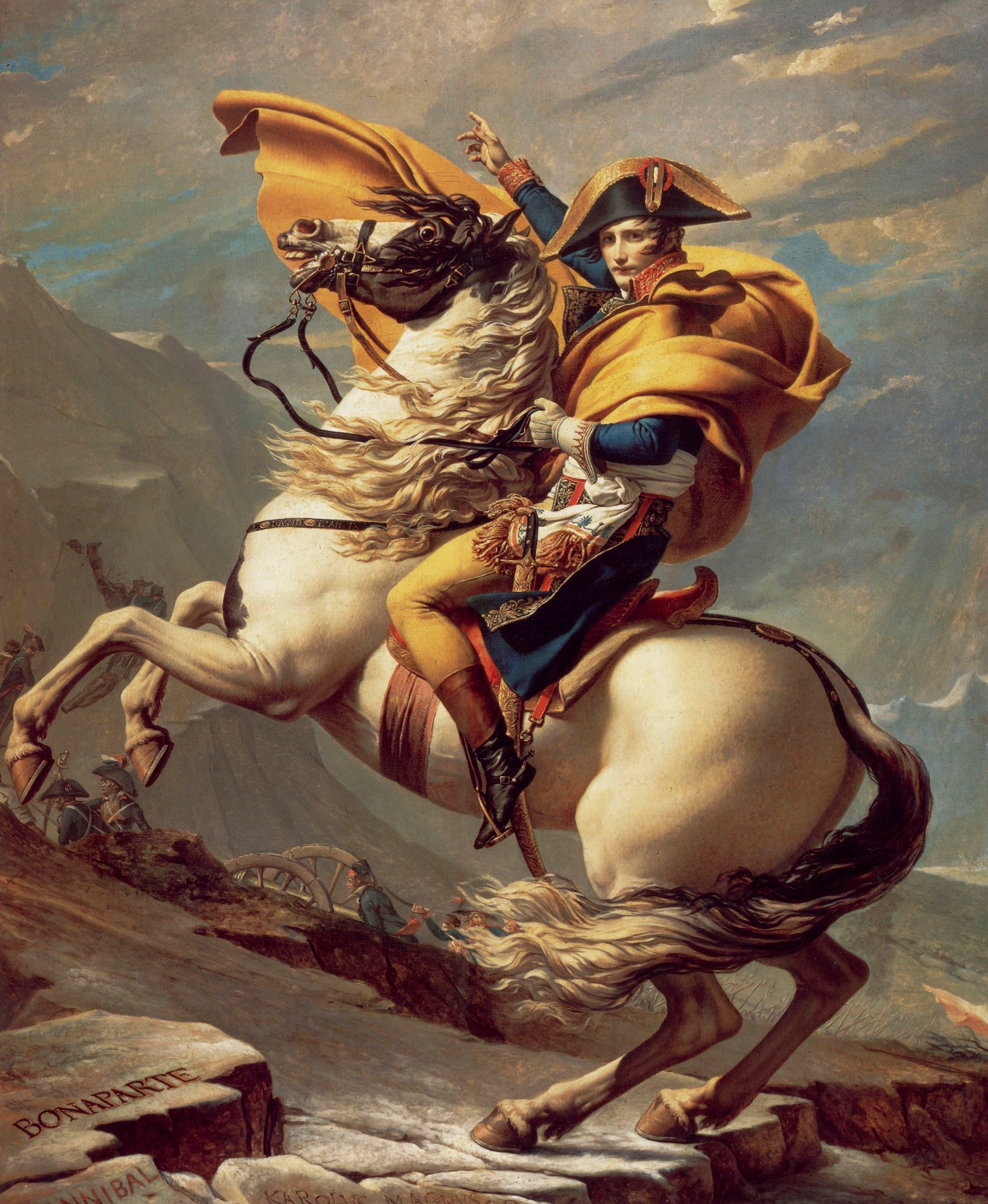 لوحة تجسد نابليون بونابرت في أوج شبابه ونجاحاته العسكرية