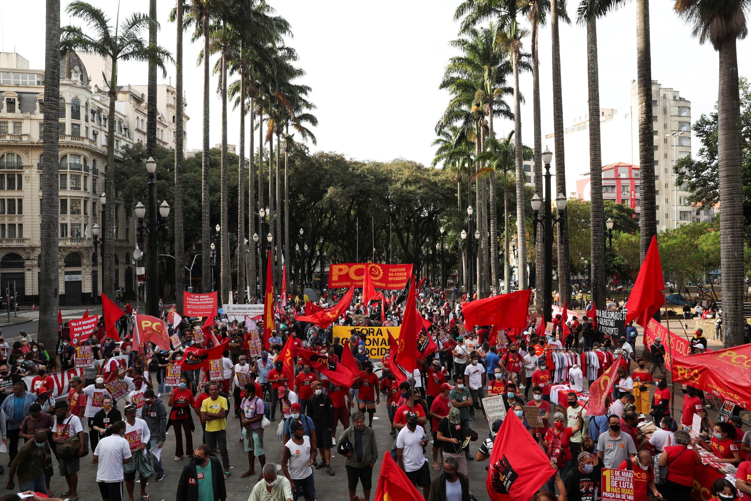 مظاهرة مناهضة لبولسونارو في ساو باولو