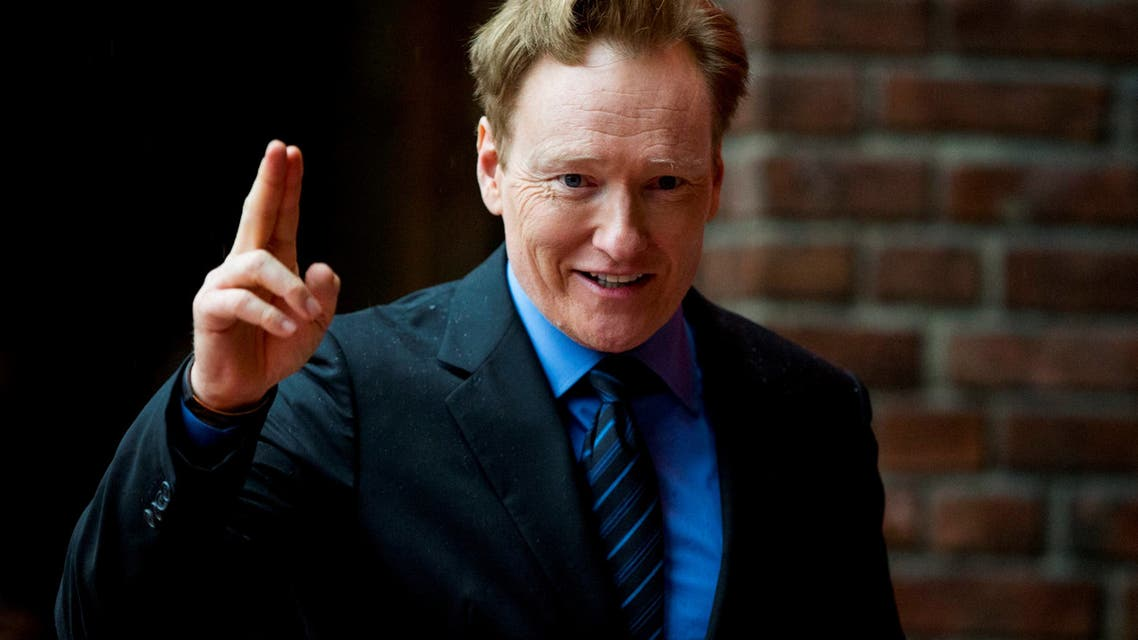 Conan O'Brien arrives for the Peace Prize awarding ceremony at City Hall in Oslo, Norway December 10, 2016. (Reuters)