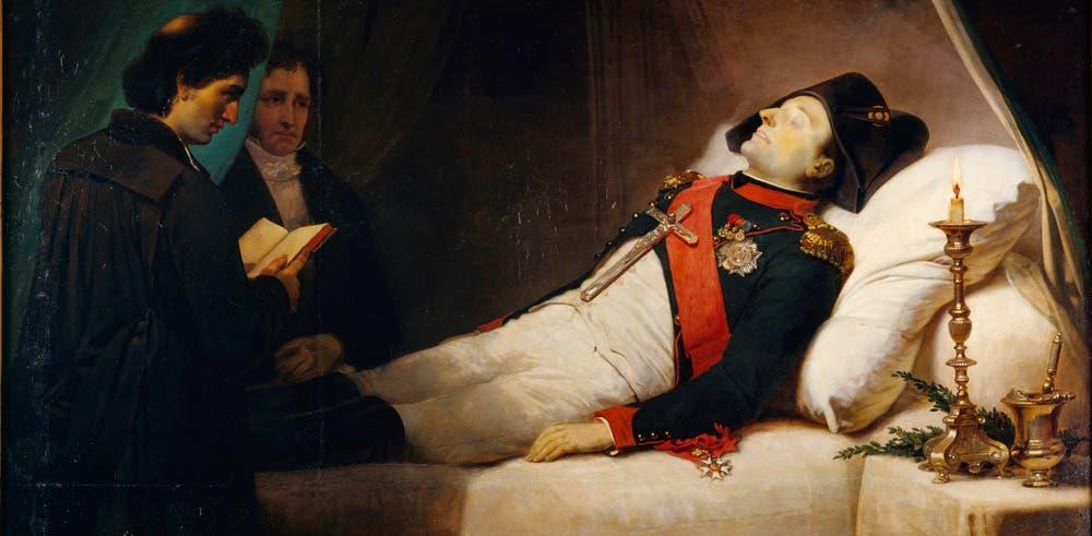 لوحة تجسد نابليون عقب وفاته