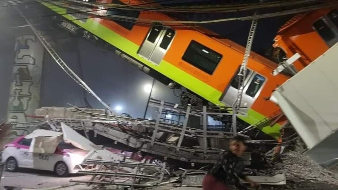 A Mexico City metro accident has left at least 50 people injured. (Twitter)