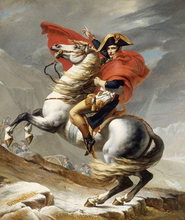 لوحة زيتية تجسد شخصية نابليون بونابرت