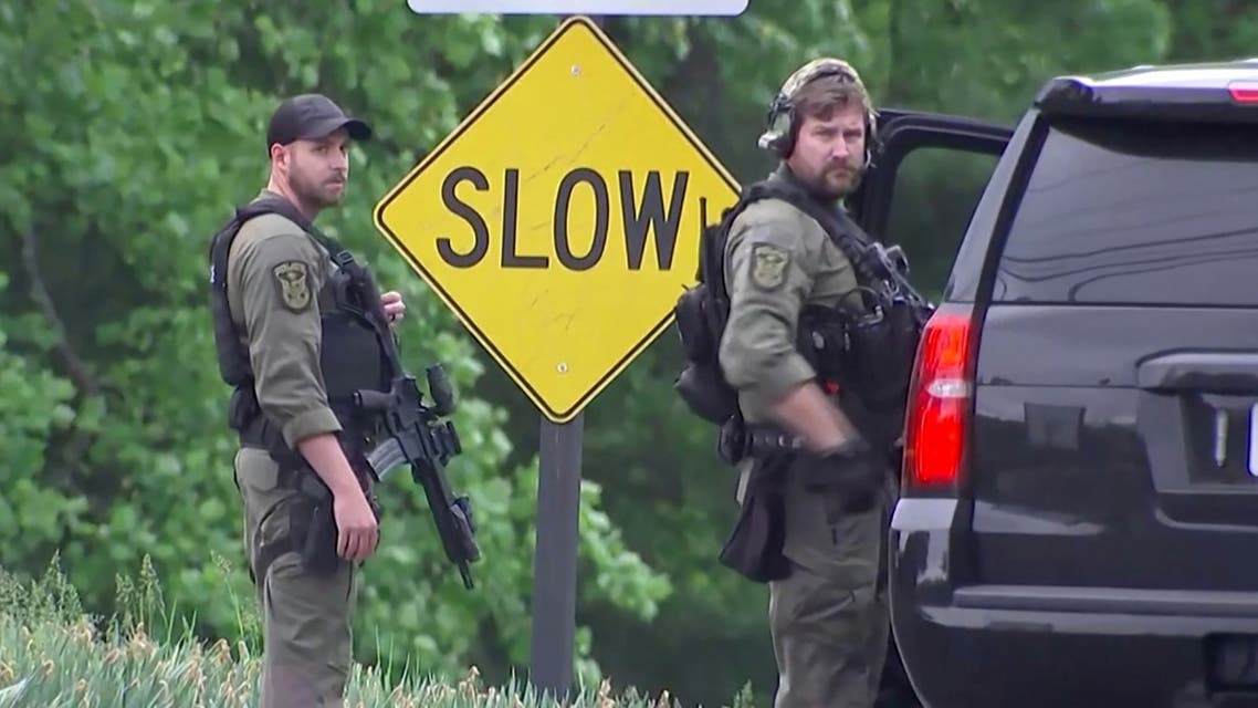 Dolley Madison Boulevard is blocked off by law enforcement in response to a security-related situation outside of the secure perimeter near the main gate of CIA headquarters in McLean, Virginia, US May 3, 2021. (Reuters)