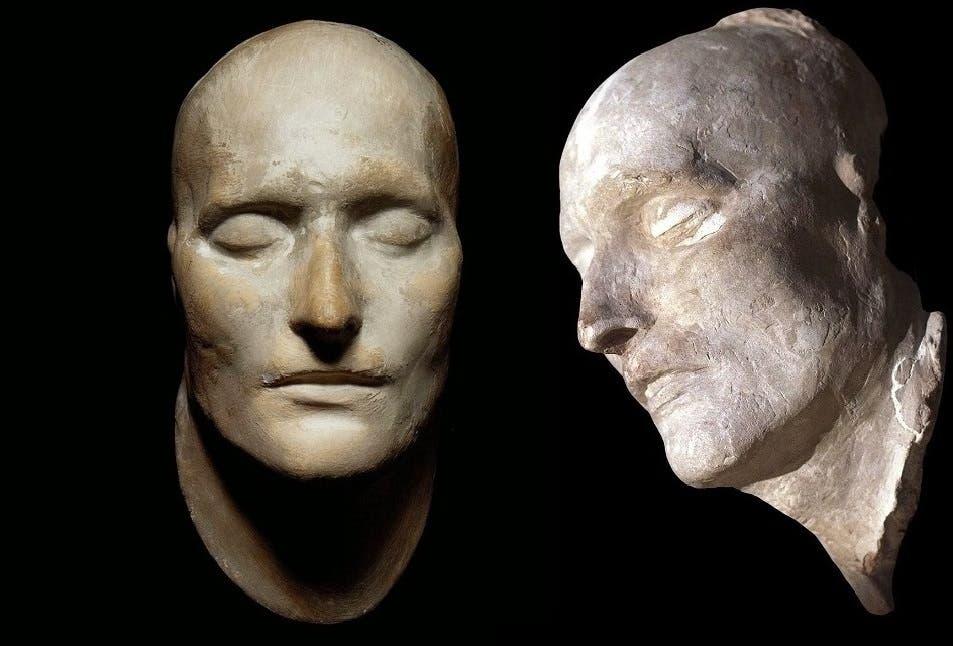 قناع موت نابليون، صنعوه بعد 35 ساعة من وفاته
