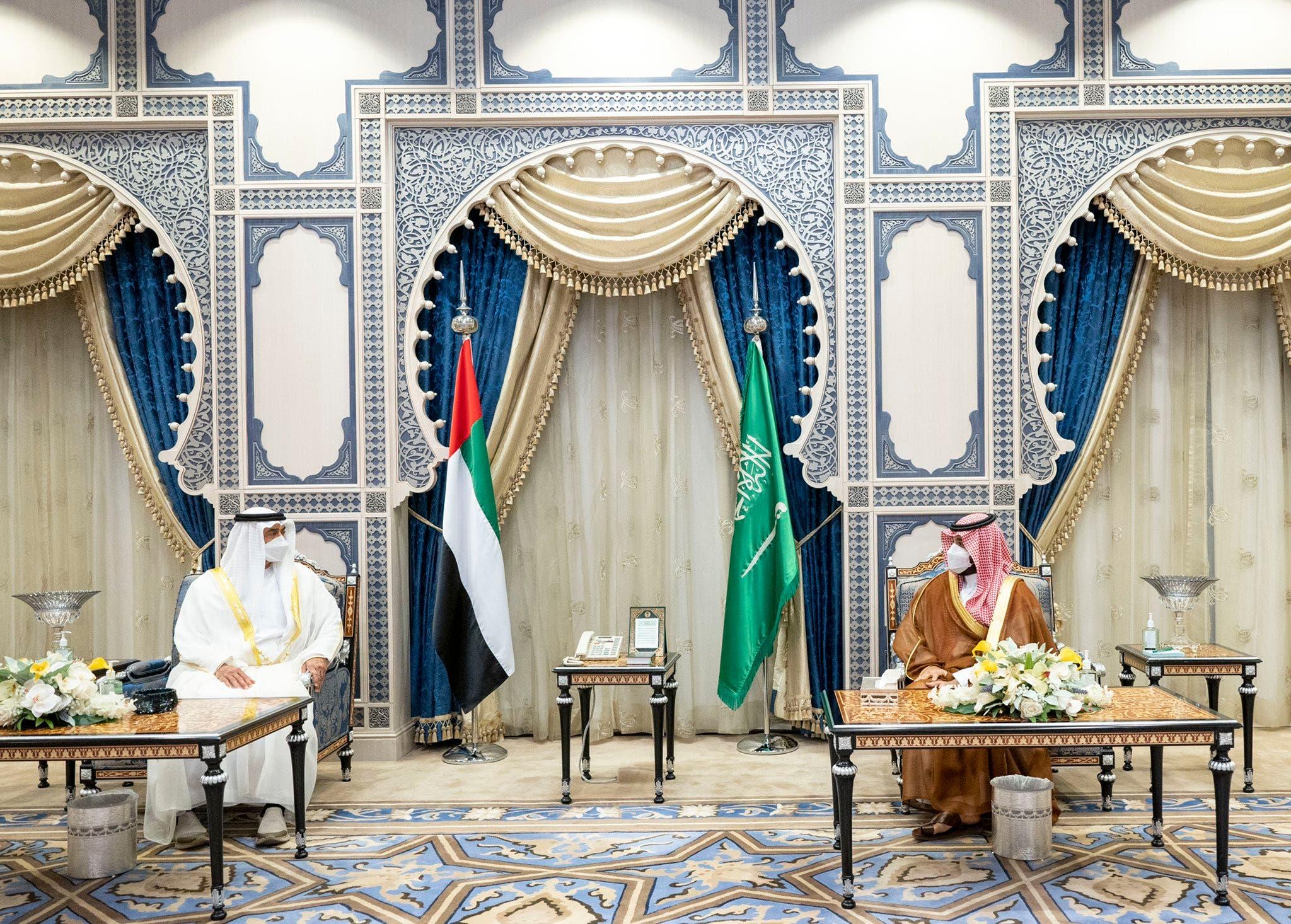 الأمير محمد بن سلمان وولي عهد أبوظبي في جدة