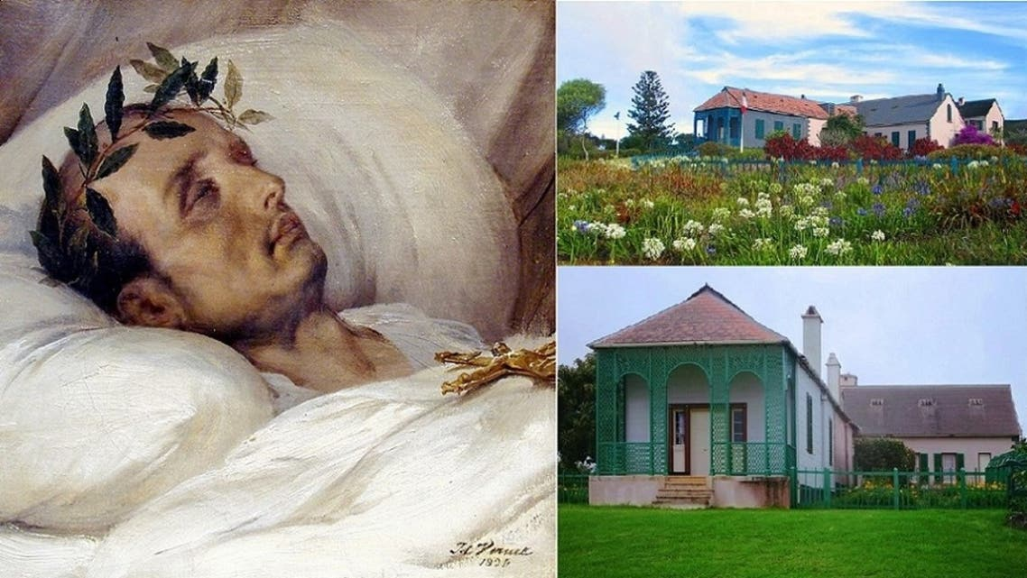 المنزل الذي أقام فيه منفيا، واللوحة الأكثر شبها به بعد موته، استوحاها راسمها من تأمله بالقناع