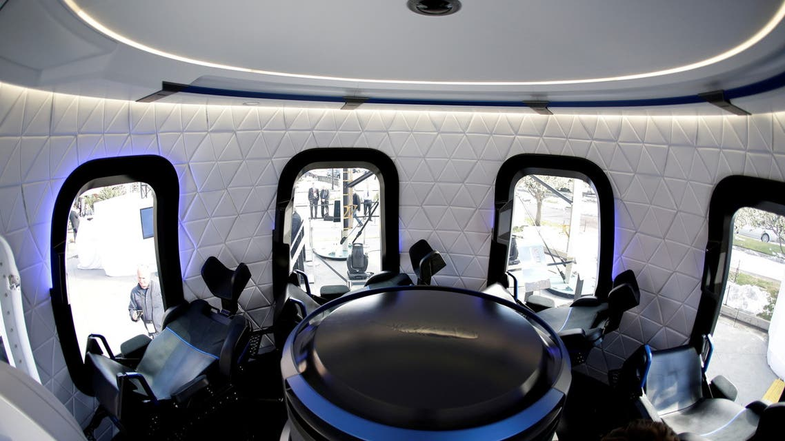 FILE PHOTO: An interior view of the Blue Origin Crew Capsule mockup at the 33rd Space Symposium in Colorado Springs, Colorado, United States April 5, 2017. (File Photo: Reuters)